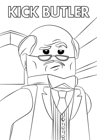 Lego Kick Butler Coloring Page Free Printable Coloring Pages