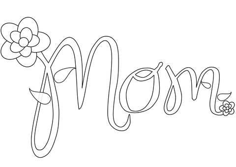 Thank You Mom Coloring Pages Coloring Pages
