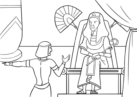 Pharaoh is Told of the Flight of the Israelites coloring