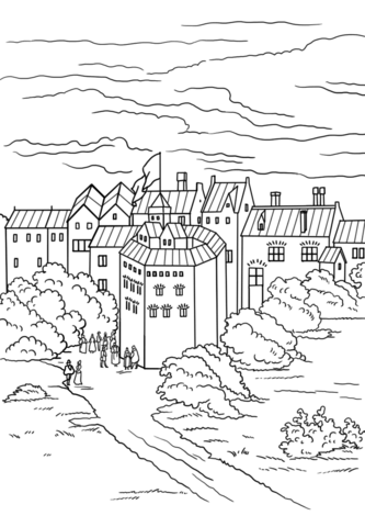 Theatre Stage Coloring Pages Sketch Coloring Page