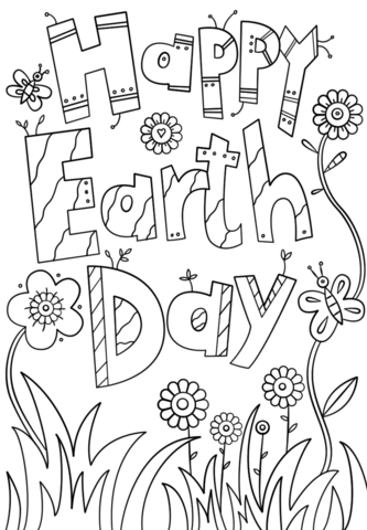 Happy Earth Day Coloring Page Free Printable Coloring Pages