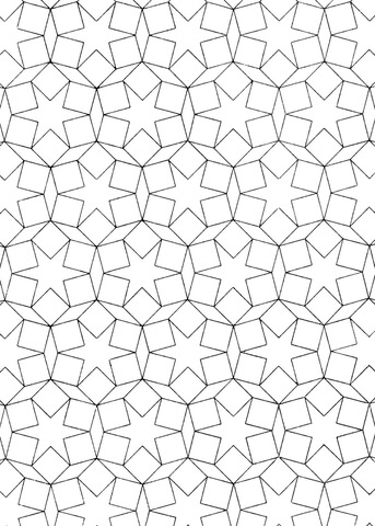 Islamic Pattern Coloring Page Free Printable Coloring Pages