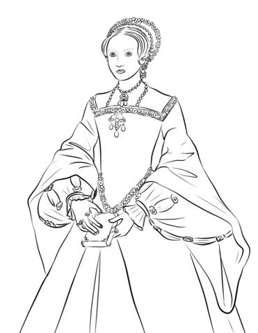 Queen Elizabeth I Coloring Page Free Printable Coloring