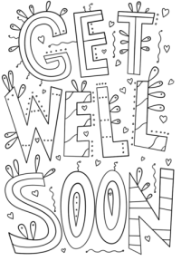 Get Well Soon Doodle coloring page | Free Printable ...