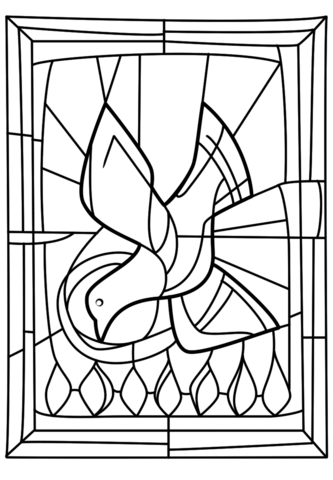 Pentecost Seven Gifts of the Holy Spirit coloring page