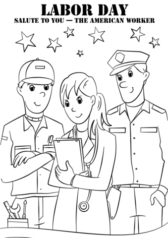 Labor Day Salute To You The American Worker Coloring
