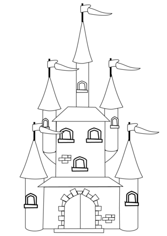 Cardboard Princess Castle Coloring Coloring Pages