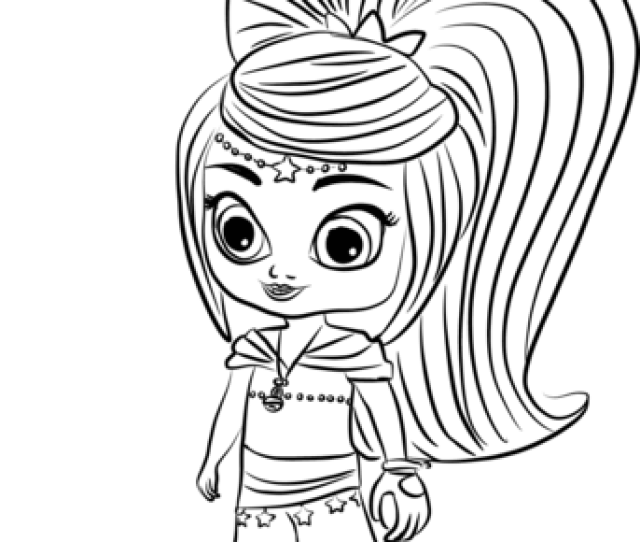 Leah From Shimmer And Shine Coloring Page Free Printable