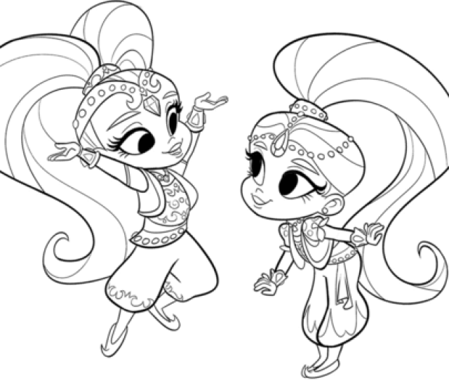 Shimmer And Shine Coloring Page Free Printable Coloring Pages