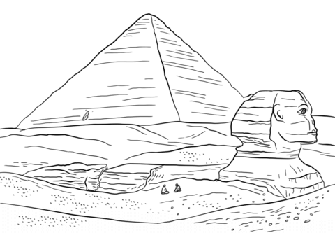 pyramid coloring page   Coloring Page for kids