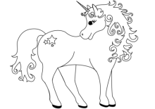 Printable Beautiful Unicorn Unicorn Coloring Pages