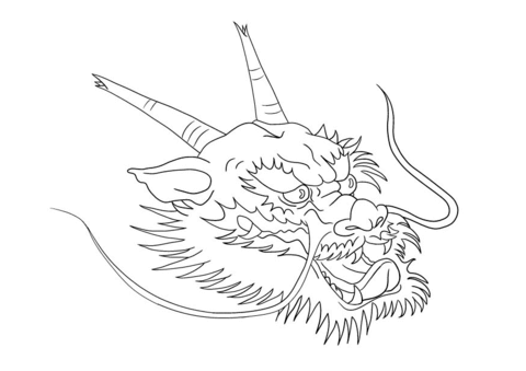 chinese dragon head coloring