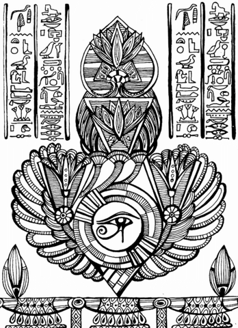 Eye Of Horus Coloring Page Free Printable Coloring Pages