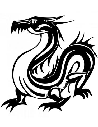 Dibujo De Tatuaje De Dragón Oriental Para Colorear Dibujos Para