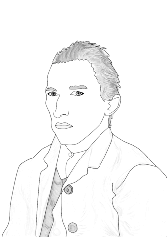 Self Portrait Sheet Coloring Pages