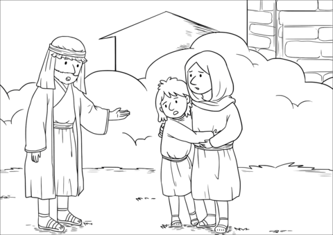Elisha Helps The Shunammite Woman Coloring Page Coloring Pages