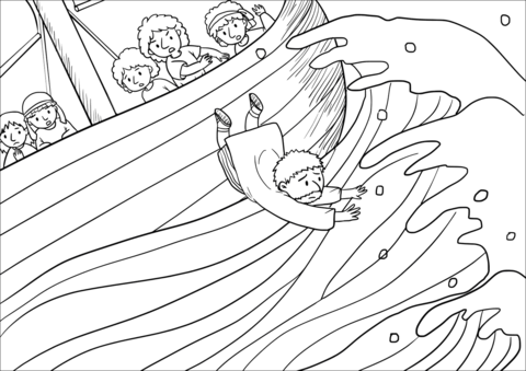 The Sailors Took Jonah and Threw Him Overboard and the