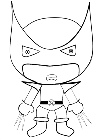 Easy Cute Spiderman Coloring Pages