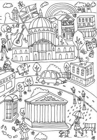 University Of London And British Museum Coloring Page