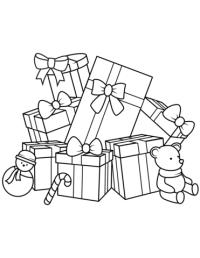 Dibujo de Regalos de Navidad para colorear   Dibujos para ...