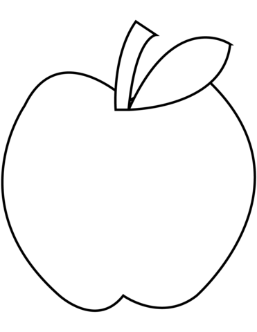 Apple Coloring Page Free Printable Pages
