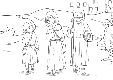 The Boy Jesus at the Temple (Luke 2:40-52) coloring page