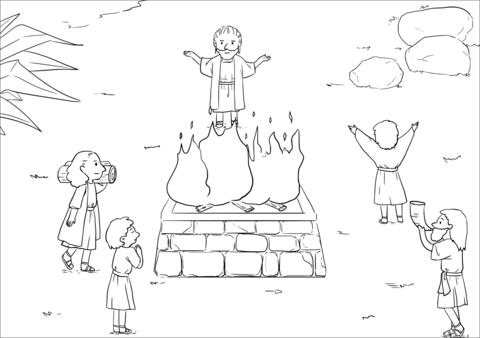 Samuel Rebukes Saul (1 Samuel 13:6-14) coloring page