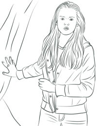 Alice Cullen Coloring Pages Edward Cullen Outline Coloring
