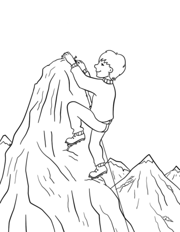 Mountains Colouring Pages Sketch Coloring Page