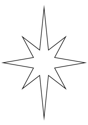 Disegno di stella cometa di natale da colorare disegni da. Disegno Di Stella Di Natale Da Colorare Disegni Da Colorare E Stampare Gratis