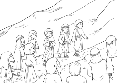 The Great Commission (Matthew 28:16-20) coloring page