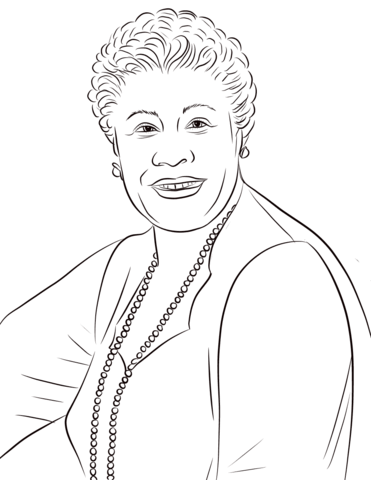 Ella Fitzgerald Coloring Page Free Printable Coloring Pages