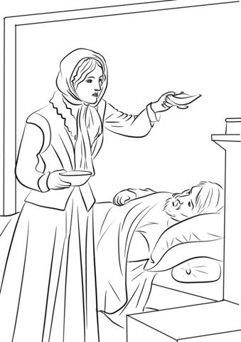Florence Nightingale Coloring Page Free Printable