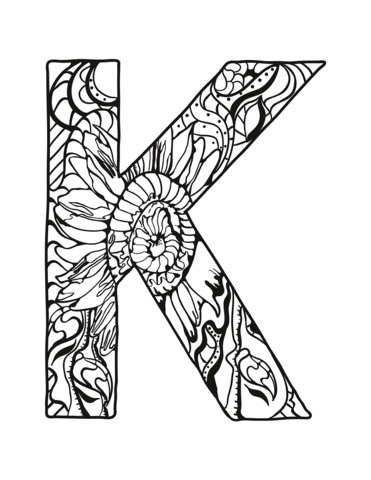 Big Letters Printable With Butterflies