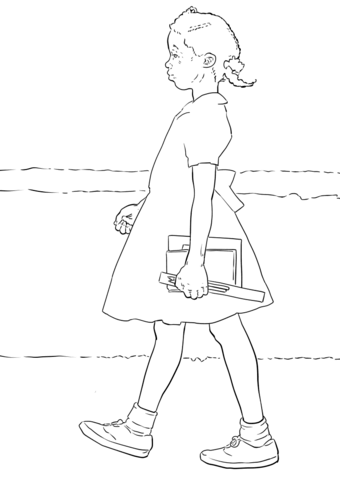 Ruby Bridges Coloring Page Free Printable Coloring Pages