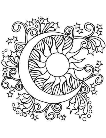 pop art sun moon
