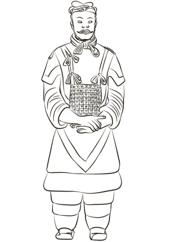Dibujo de General del Ejército de terracota para colorear