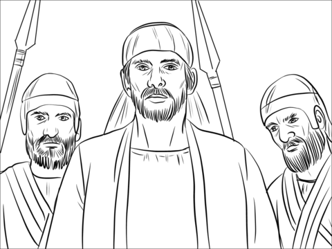 Stephen was Seized after False Testimony coloring page