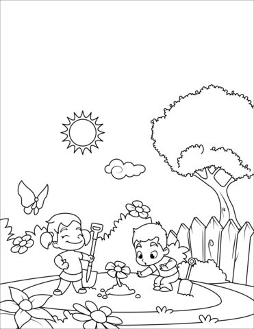 Planting A Seed Sequence Cards Sketch Coloring Page