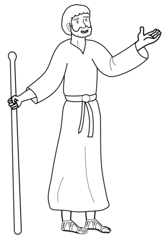 Apostle paul coloring page