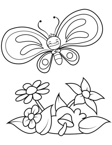 40+ Más Popular Flores Mariposas Bonitas Dibujos Para