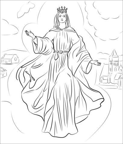 Our Lady Of Knock Coloring Page Free Printable Coloring