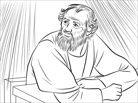 The Lord Called to Ananias in a Vision coloring page