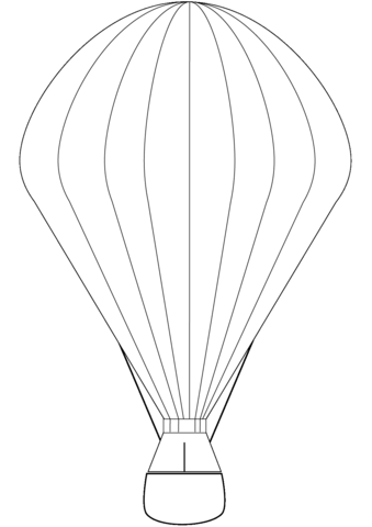 Hot Air Balloon Coloring Page Free Printable Coloring Pages
