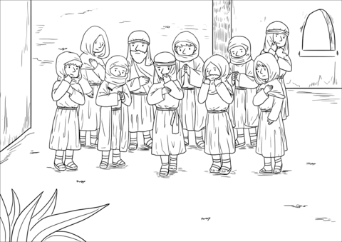 Ten Lepers Coloring Pages Preschool Coloring Pages