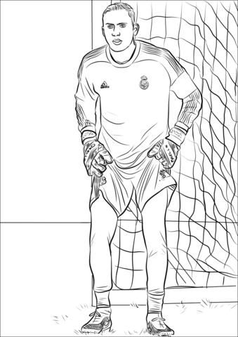 Ausmalbild Manuel Neuer