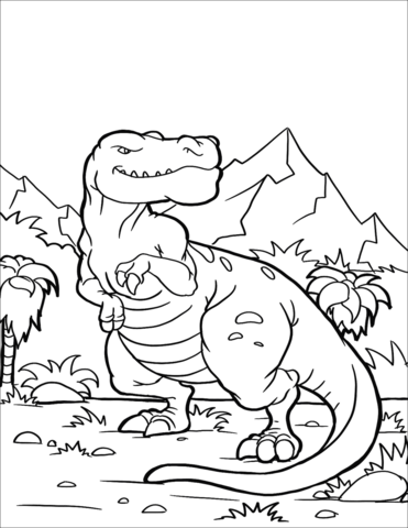 Tyrannosaurus Rex Coloring Page Free Printable Coloring Pages
