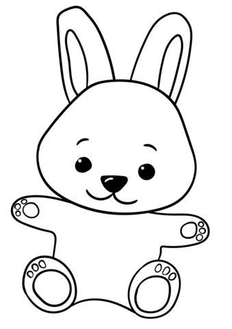 Disegno Di Coniglietto Carino Cartone Animato Da Colorare