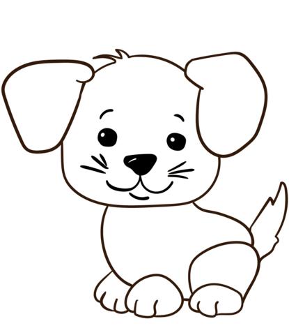 cute cartoon puppy coloring