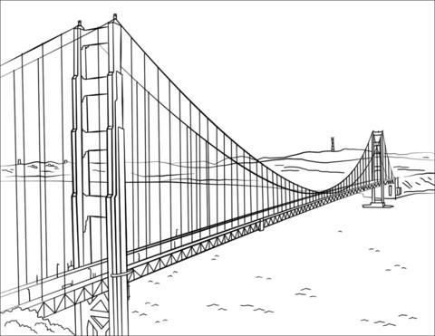 Ausmalbild Golden Gate Bridge Ausmalbilder Kostenlos